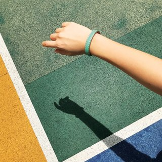Sonniewing's Playful Color Block Leather Bangle (7 Colours)
