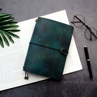 Aurora handmade leather notebook travel handbook notebook notepad diary customized free lettering