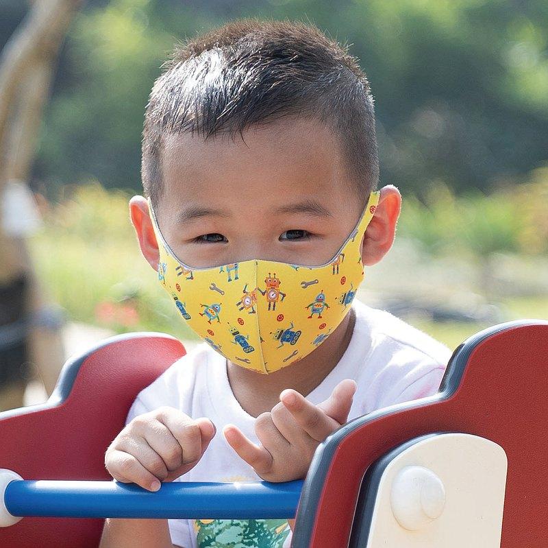 兒童-機器特工-3D立體透氣抗菌口罩1入