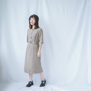 II Ancient II Japanese II Small dot dotted vintage dress II