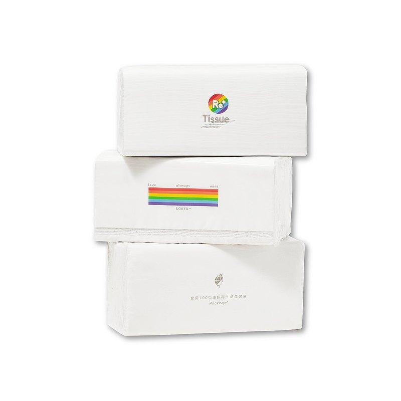 唯一支持同志的─ReTissue彩虹平權衛生紙 (100抽/60包)