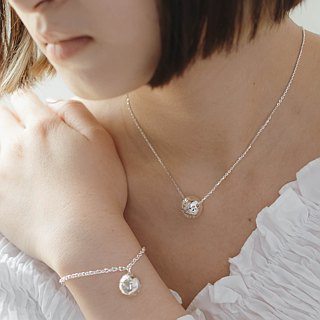 zo.craft Ball Snowflake Bracelet / Sterling Silver