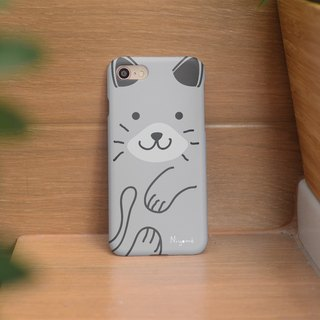 iphone case soft gray cute cat for iphone5s,6s,6s plus, 7,7+, 8, 8+,iphone x