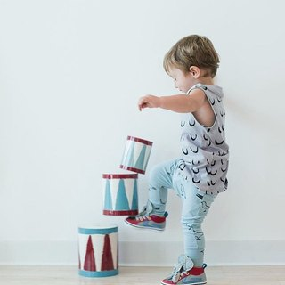 Nordic organic cotton children's flying squirrel pants blue for 1 year old to 8 years old Baggy Pants ba8