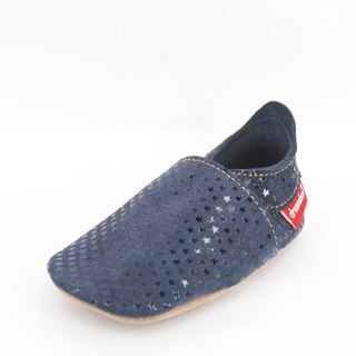 """Taiwan hand"" ""Mimi preferred"" ZORBA leather shoes / children's shoes (fine dark blue)"