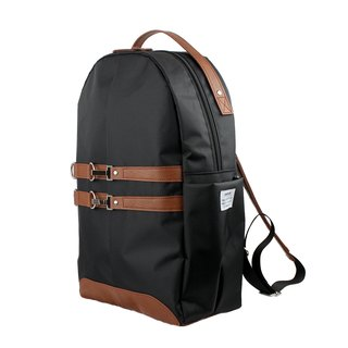 AMINAH-Camel brown light riding backpack [am-0305]