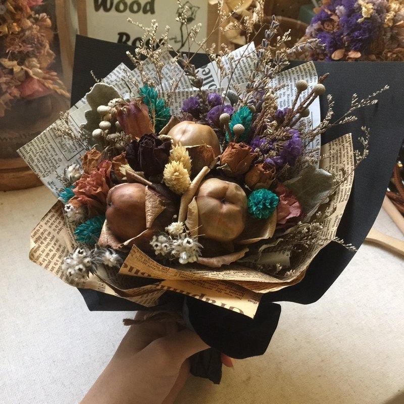 乾燥花  擴香花 客製花束 - 木玫瑰花束