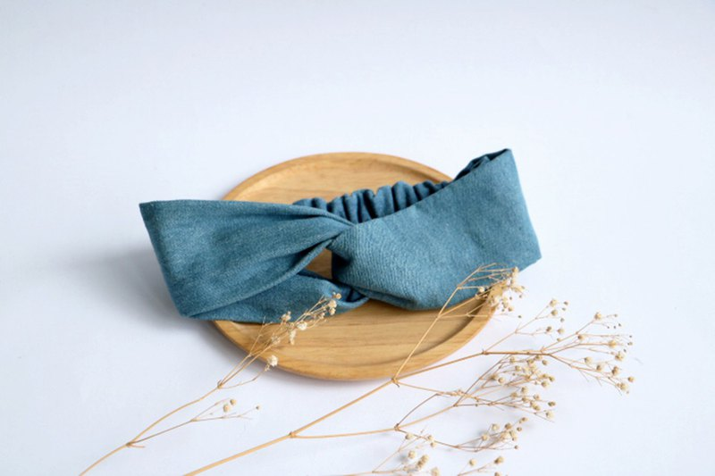 MaryWil Basic Denim Hair Band