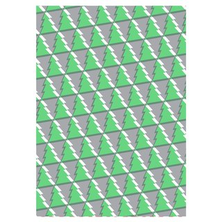 Green geometric graphic Christmas wrapping paper [Hallmark-reel wrapping paper Christmas series]