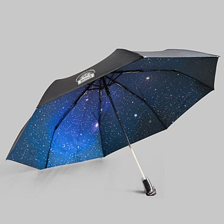 Rainbow House fly to the cosmic rain automatic umbrella - blue (large umbrella surface / security open)