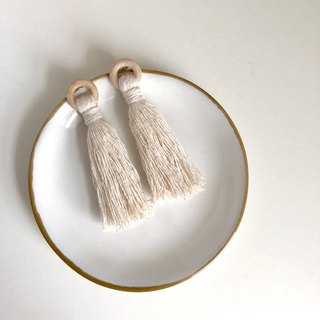 Handmade _ tassel earrings _ pure