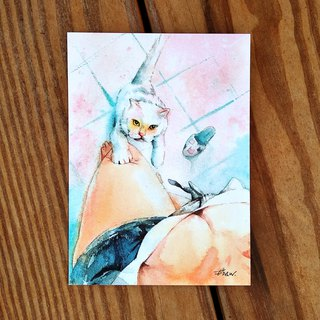 Watercolor painted hair boy series postcard - fascinating bumps