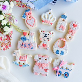 Receive saliva sugar cookies • Quartz female hand-painted creative design gift box set of 10 pieces**Please contact the subscription schedule before ordering**