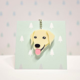 Labrador Retriever (Cow Cream) - Key Chain - Pet Accessories - Pet Hanger - Hairy Kids - Gifts - Custom Made - Acrylic - BU