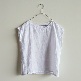 Small sleeves washed linen white