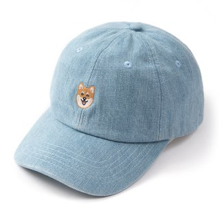 【Pjai】Embroidery Dad Hat - Denim  (AC094)