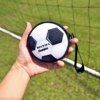 Football coin purse headset storage