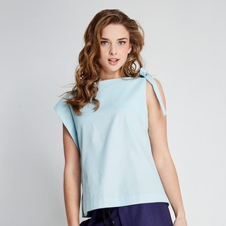 (FIT1701TP03BL) Butterfly sleeveless shirt