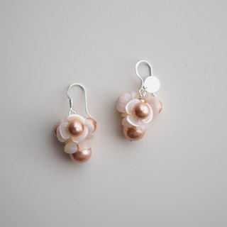 Earrings耳環:  Rosanna Earrings (Rose Peach) - E002