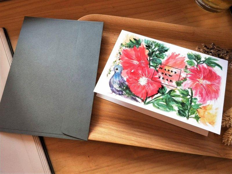 Greeting cards /手繪/卡片/新年賀卡/賀卡