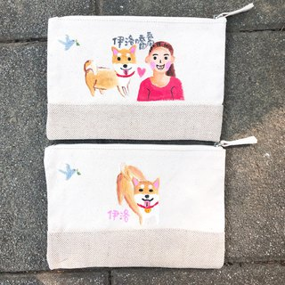 Customized hand-painted pencil case (large) new