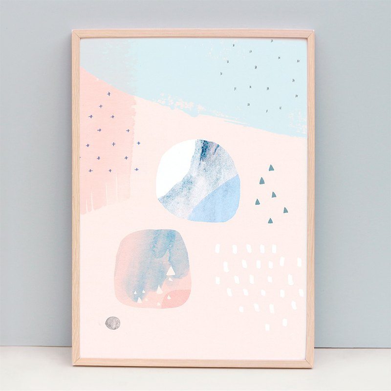 Contemporary Modern fine art print Soft Pastel Colours - Tranquil  (Unframed)