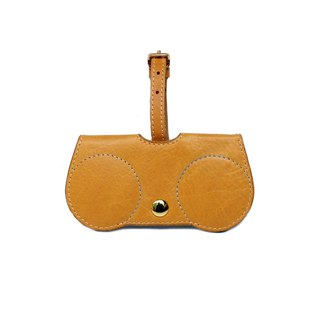 Tan Nude B.Cover Hanging Out leather Pouch Cases Sunglasses