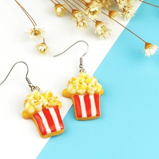 Small popcorn cone frosting biscuits - ear pins / earrings