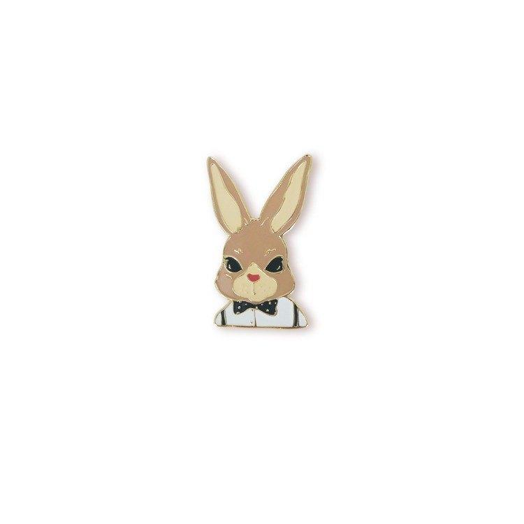 花朵兔 胸針 徽章 兔子小鎮系列