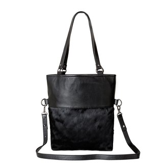 WASTELAND Shoulder Bag_Black Fur / Black Hair