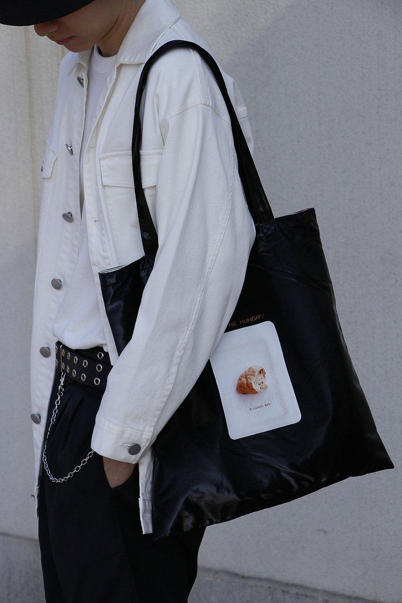 studioHELP維度生活原創設計PU復合防水面料印花手提袋單肩包新款