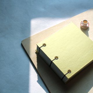 Matte gold waterproof fabric hardcover hardcover hand-sewn notebook