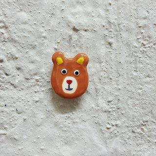 Bear ceramic pin