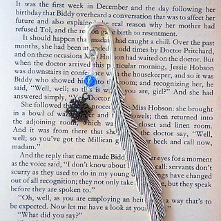 Romantic Snowflake Handmade Bookmark