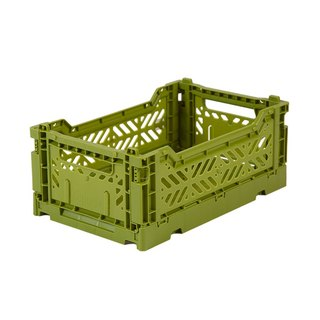 Olive Green - Turkey Aykasa Folding Storage Basket (S)