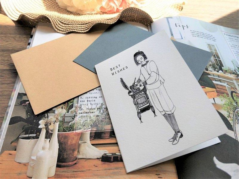 Greeting cards /萬用卡片/手繪/歐式古典/卡片/賀卡