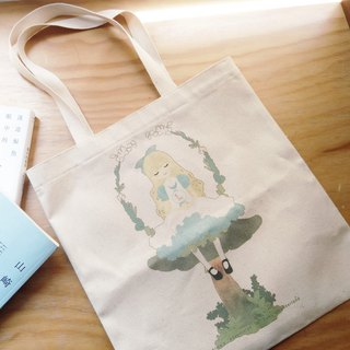 Thick pound canvas bag │ Alice in Wonderland │ single crystal ball Alice