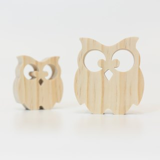 wagaZOO hand cut thick styling blocks sky series - owl