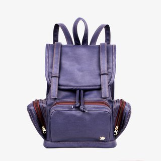 Double belt back backpack