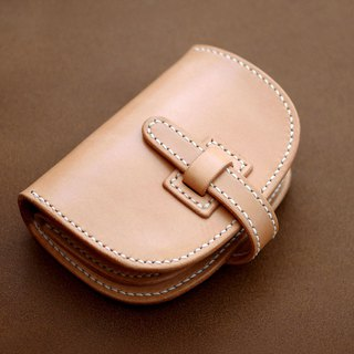 Genuine leather saddle leather half wallet (Insert type)