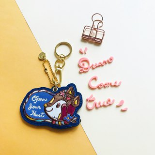 Amy's Leather Zipper Key Chain Charm