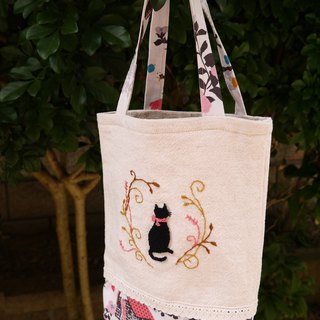 Black cat elegant garden bag
