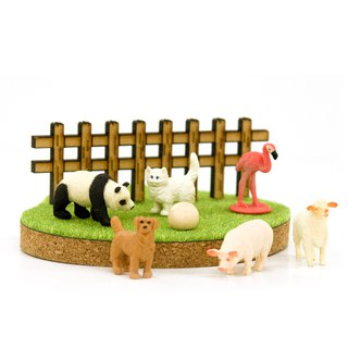 Shibaful Meadow Island Animal Phone Holder Smartphone Stand with Animal