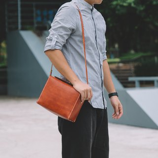 [Cutline] handmade simple leather camera bag photography bag unisex