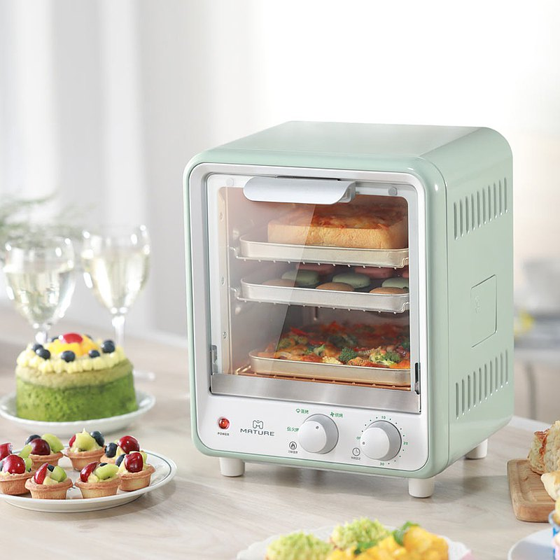 MATURE Double Steam Cyclone 9L Oven-Mint Green CY-1680