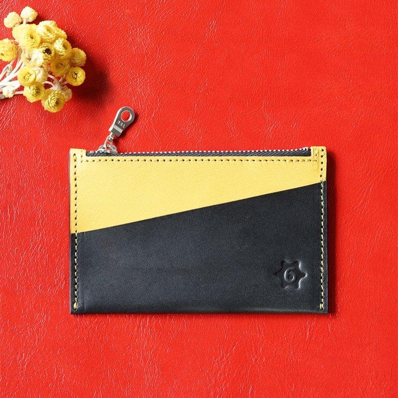 雙色多功能卡片零錢包(雛菊黃)