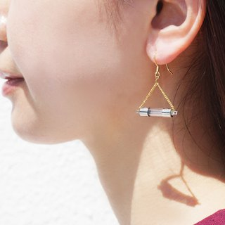 【P-3】(Gold)Electronic parts pierced earrings/components/small electrical fuse