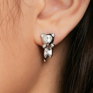 Playful cats want to rely on your cat earrings sterling silver earrings