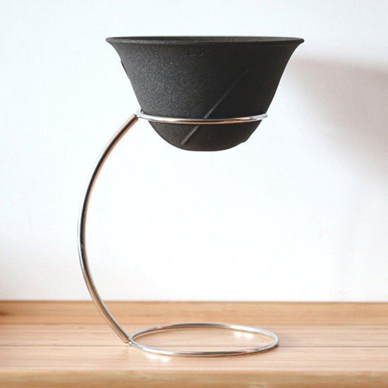 LOCA咖啡陶瓷濾杯 圓弧形L號 手沖架套組