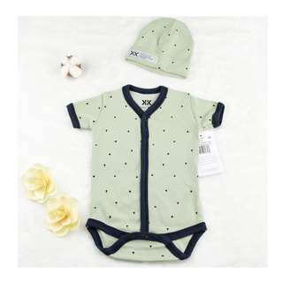 Packers & Skins Onesie & Cap Spruce Green Material Super Soft Spot - USA Krochet Kids Branded Rabbit 0-3 Months